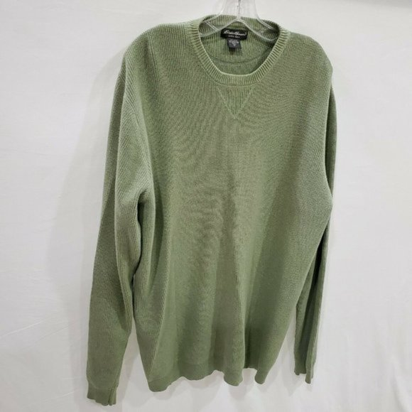 Eddie Bauer Hong Kong light green olive sweater